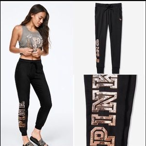 VS PINK Bling ombre sequin skinny jogger